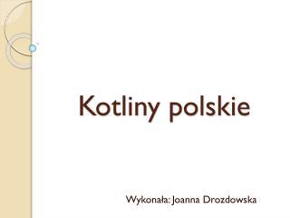 Kotliny polskie
