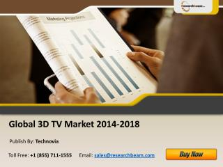 Global 3D TV Market Size, Analysis, Share 2014-2018