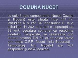 COMUNA NUCET