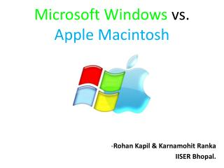 Microsoft Windows  vs.  Apple Macintosh