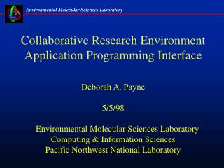 Collaborative Research Environment Application Programming Interface