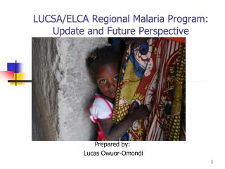 LUCSA/ELCA Regional Malaria Program: Update and Future Perspective