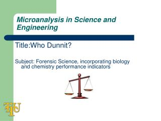 Microanalysis in Science and Engineering