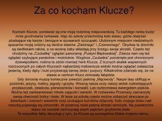 Za co kocham Klucze?