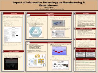Impact of Information Technology on Manufacturing & Entertainment