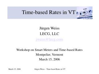 Time-based Rates in VT