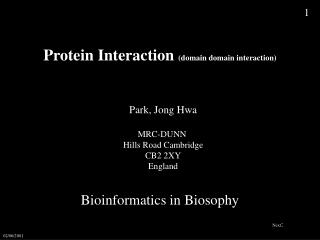 Protein Interaction  (domain domain interaction)
