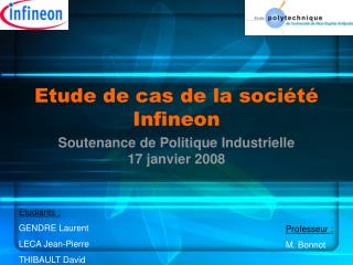 Etude de cas de la société Infineon