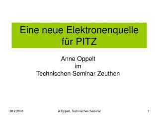 Eine neue Elektronenquelle f ür PITZ
