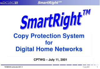 Copy Protection System  for Digital Home Networks