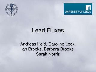 Lead Fluxes