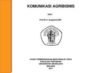 KOMUNIKASI AGRIBISNIS