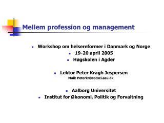Mellem profession og management