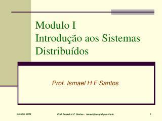 Modulo I  Introdução aos Sistemas Distribuídos
