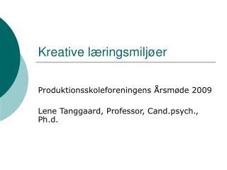 Kreative læringsmiljøer