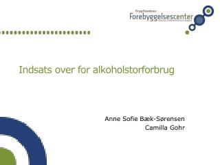 Indsats over for alkoholstorforbrug