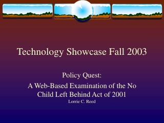 Technology Showcase Fall 2003