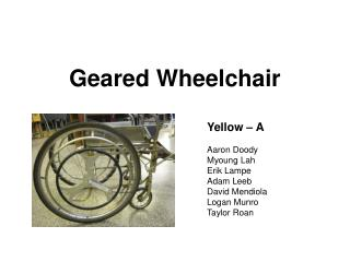Geared Wheelchair