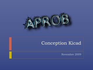 Conception  Kicad