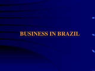 BUSINESS IN BRAZIL