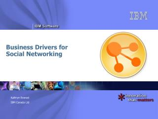 Business Drivers for  Social Networking