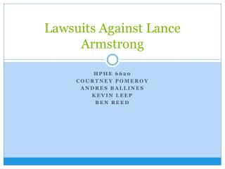 Lawsuits Against Lance Armstrong