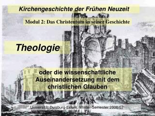Kirchengeschichte der Frühen Neuzeit