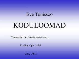 Eve T õnissoo