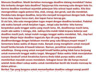 web Stop Menjadi Manusia Deadliner FAJAR RUDY QIMINDRA