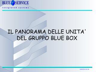 IL PANORAMA DELLE UNITA' DEL GRUPPO BLUE BOX