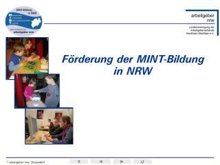 Förderung der MINT-Bildung in NRW