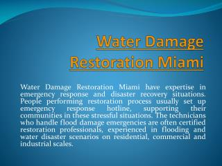Water Damage Fort Lauderdale