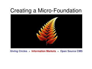 Creating a Micro-Foundation