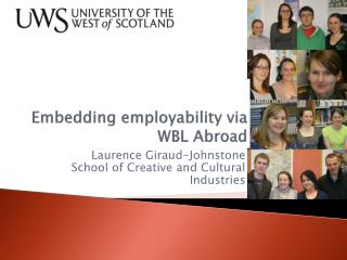 Embedding employability via WBL Abroad