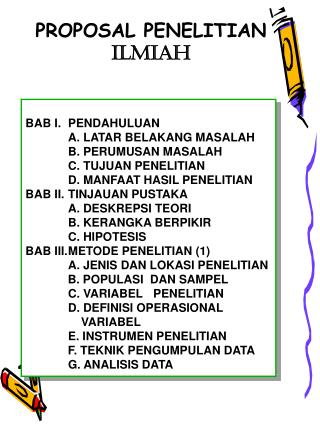 PROPOSAL PENELITIAN ILMIAH