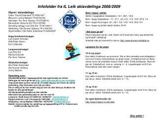 Infofolder fra IL Leik skiavdelinga 2008/2009