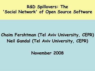 R&D Spillovers: The  'Social Network' of Open Source Software