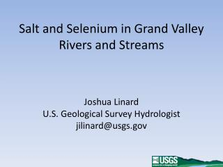 Salt and Selenium in Grand Valley Rivers and Streams