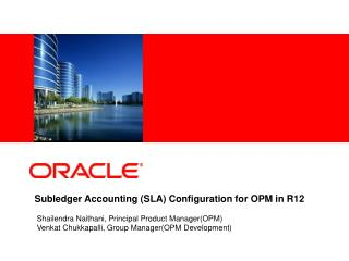 Subledger Accounting SLA Configuration for OPM in R12