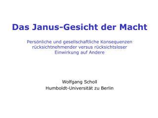 Das Janus-Gesicht der Macht