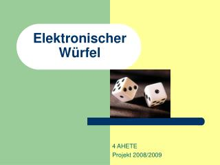 Elektronischer  Würfel