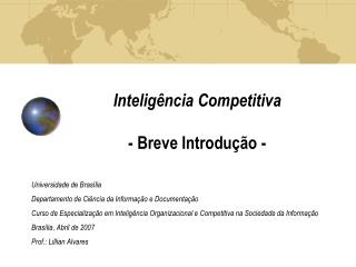Inteligência Competitiva - Breve Introdução -