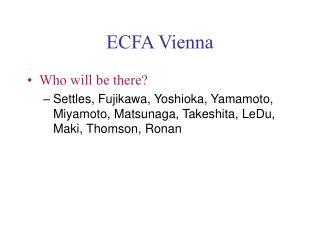 ECFA Vienna