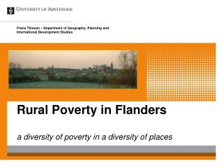 Rural Poverty in Flanders