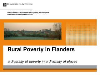 Rural Poverty in Flanders