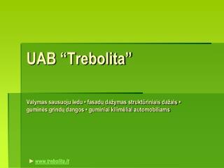 """UAB """"Trebolita"""""""