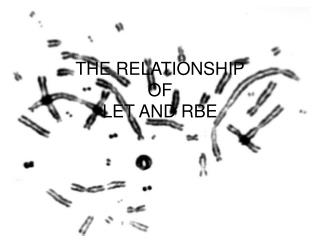 THE RELATIONSHIP  OF LET AND RBE