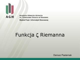 Funkcja  Riemanna