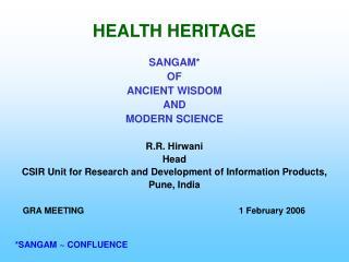 HEALTH HERITAGE