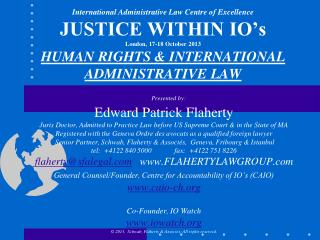 Our Session Topic: Are IO's Subject to Human Rights Law?